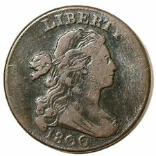 1800 S-209 R-3 Draped Bust Large Cent Coin 1c