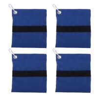 4pcs Golf Tees & Ball Holder Waist Bag Pouch with Clip for Caddy Golfer Club