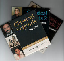 CLASSICAL LEGENDS: THE DEFINITIVE COLLECTION - 3 PROMO CDs: PAVAROTTI, TERFEL ++