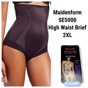 New Maidenform SE5000 Firm High Waist Brief Size 2XL Shaper Black Tummy Control