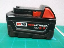 Milwaukee Cat # 48-11-1850 m18 Red Lithium xc 5.0 Empty Housing Only No cells