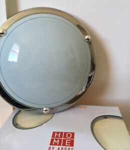Argos Home Flush Light Fitting - Chrome
