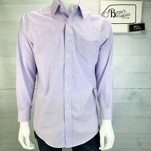 Brooks Brothers Mens Slim Fit Dress Shirt Non-Iron Purple Size 15.5 - 2/3