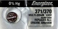 ENERGIZER 371 370 SR920SW D371 D370 LR920 LR921 AG6  Battery x 1