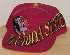 Vintage 90s Florida State FSU SEMINOLES The Game BIG LOGO SnapBack HAT NWOT NOS
