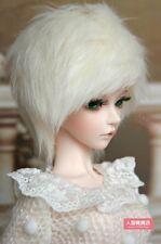 BJD doll wig 8-9 inch 20-22cm 1/3 BJD DOLL SD Fur Wig Dollfie Milk white