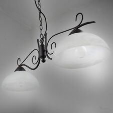 Suspension Lustre Style campagne antique noir 9877