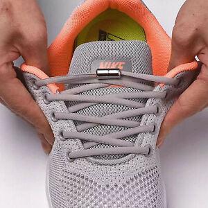 Elastische Schnürsenkel mit Schnellverschluss Metallkappe Kinder Sport Schuhe