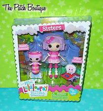 MINI LALALOOPSY LITTLES SISTERS DOLLS PILLOW & BLANKET FEATHERBED W/ SHEEP (NEW)