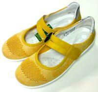 Remonte soft Damen Schuhe Slipper Halbschuh Ballerina R3506-68 gelb Klett