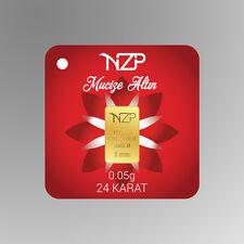0.05 (1/20) gram gold bar 995 0,05 gr Goldbarren goudstaaf lingot d'oro barra