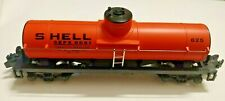 Shell SEPX 8681 #625 Orange Tank Car - American Flyer S Gauge By Lionel