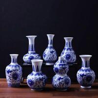 Flower Vases Vintage Home Decor Ceramic Antique Traditional Blue White Porcelain