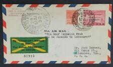 1930 Brazil Milwaukee Wisconsin Graf Zeppelin Rio to Lakehurst Air Mail Cover