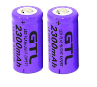 2 X GTL 3.7V CR123A 16340 2300mAh Rechargeable Li-ion Lithium Battery For Camera