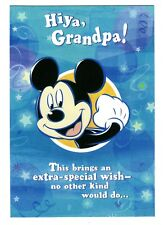 Hallmark Disney Mickey Mouse Grandpa Father's Day Greeting Card w/ Envelope