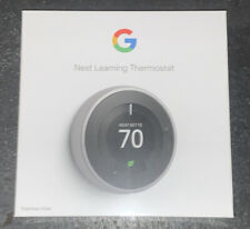 Google Nest 3rd Gen. Learning Thermostat - Stainless Steel New Sealed