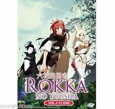 DVD Anime Rokka no Yuusha ( Vol. 1-12 End ) English Subtitle + Bonus DVD