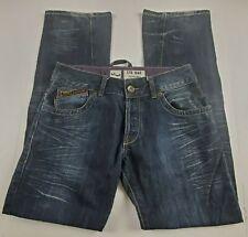 LTB 1948 Little Big Mens Jeans Sz 32 Boot Cut Mid Rise Dark Wash Denim Whiskers*