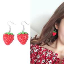Earrings Women Jewelry Gifts Hot Fpg Cute Fruit Strawberry Drop Dangle Hook