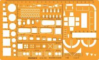 1:50 Architect Combination 1:50 Scale Technical Drawing template Stencil