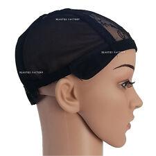 1x Adjustable Strap DIY Hair Head Wig Weaving Cap One Size Net Mesh 1231