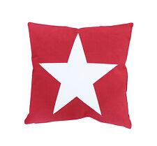 Kissenhülle 50x50 rot Stern Big Star Shabby Vintage Landhaus Krasilnikoff
