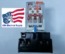 New Relay 11pin Coil 110vac 10a 250vac30vdc With Socket Base 7a 250v