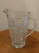 Vintage Depression Glass Pitcher Ornate Juice Water Lovely