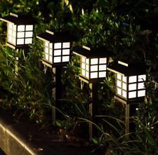 2PCS Solar Garden Night Light LED Lawn Lamps Outdoor Garden Landscape Lights