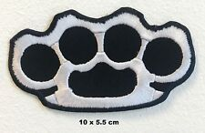 Knuckle Rings Brass Dusters Biker Applique Embroidered Iron-on Biker Patch Badge