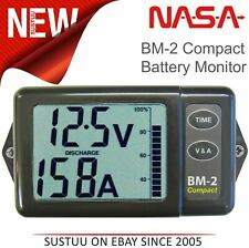 NASA Marine BM2 COMPACT Battery Monitor - 12VDC with 200AMP Shunt & 5M Cable
