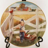 Danbury Mint Morning Song Plate Donald Zolan Collection Little Farmhands EUC