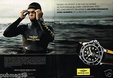 Publicité advertising 2012 (2 pages) Montre Breitling Superocéan Herbert Nitsch