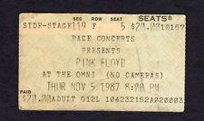 1987 Pink Floyd concert ticket stub Atlanta Omni Momentary Lapse of Reason