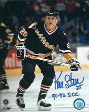 "Autographed 8x10 KEVIN STEVENS ""91-2 SCC""Pittsburgh Penguins Photo w/Show Ticket"