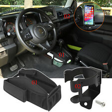 Gear Shift Storage Bag + Phone Water Cup Holder for Suzuki Jimny 2019 2020 Parts