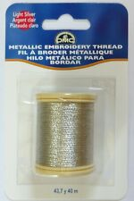 Silver Dmc Metallic Embroidery Thread 43.7yd, In Stock Never drop shipped