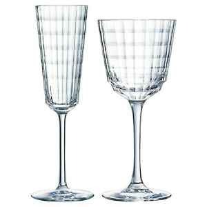 Eclat Cristal D'arque Iroko Stemmed Crystal Champagne Wine Drinking Glass Flute