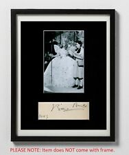 Billie Burke Matted Autograph & Photo! Glinda the Good Witch! Wizard of Oz! Rare