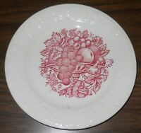 """Vintage Harvest USA Red Fruit Pattern collectible replacement 6-3/4"""" plate #4-26"""