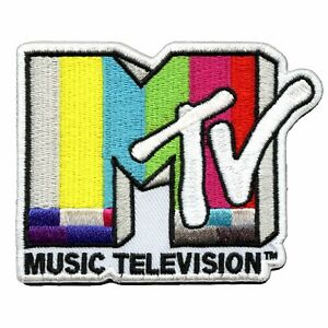 Official MTV Music Television Logo Embroidered Iron On Patch