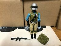 G.I. Joe 1989 STEEL BRIGADE (V1) Version D V1D with Rifle and Backpack Complete