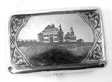 Imperial Russian Silver Niello Case Egorov Aleksandr Sergeev Dated 1895