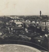 Florence Panorama Italia Stereo Vintage Analogica Ca 1920