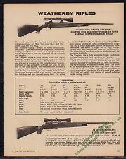 1974 WEATHERBY Vanguard & Mark XXII Vintage Rifle AD w/specs & prices