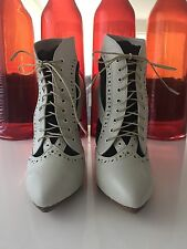 Sass & Bide Ivory Lace Up Heels sz38 brand new without box
