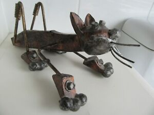 """Vintage Steampunk Cat """"Moveable parts/stand in different poses""""App 12 inch long"""
