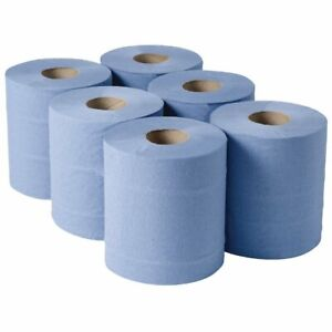 Blue Centre Feed Embossed Rolls 2ply Kitchen Roll Wiper Paper Towel Express Post