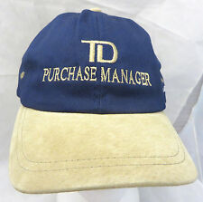 TD Toronto Dominion purchase manager  cap hat  adjustable buckle  TNT car rally